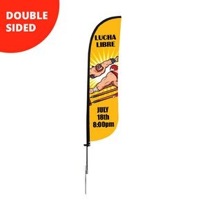 9' Feather Flag - Double Sided w/Spike Base (Small)