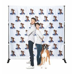 Backdrop Step and Repeat Banner Stand w/8.5' x 10' Banner
