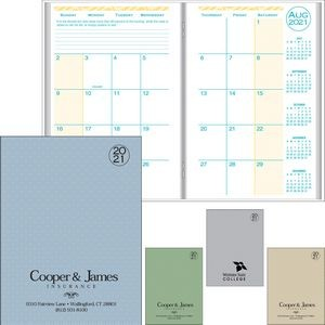 Academic Desk Monthly Planner w/ Printed Weave Cover - 2020-2021